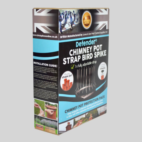Defender Chimney Pot Bird Spike Pack Side of Box