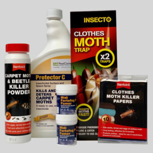 All in one kit to kill and control clothes and carpet moths
