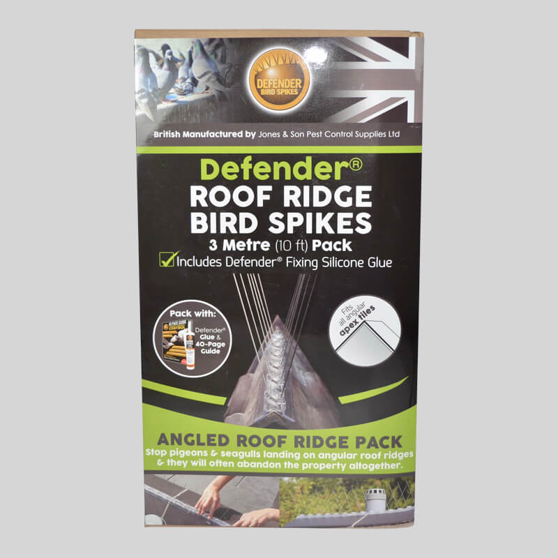 Defender Roof Ridge Bird Spike Pack Front of Box