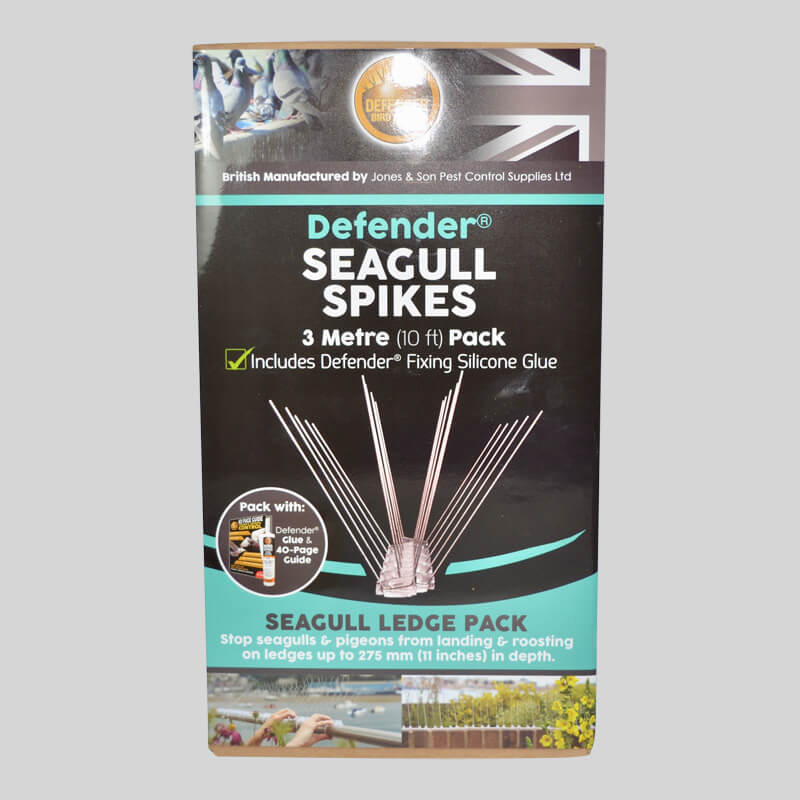 Defender Seagull Spikes Pack Front of Box
