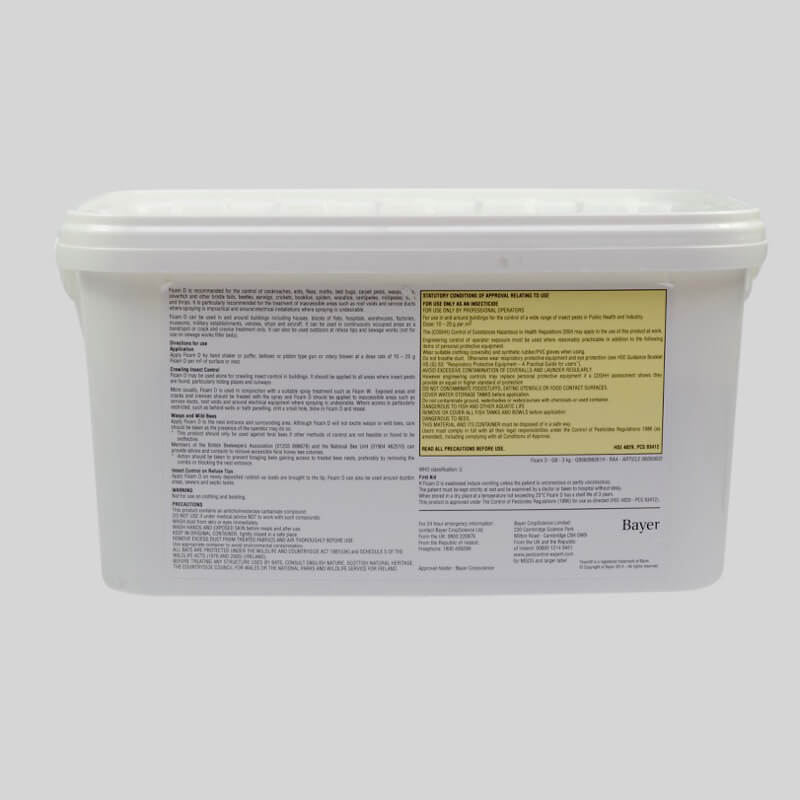 Ficam D Insecticide Powder Label On Tub