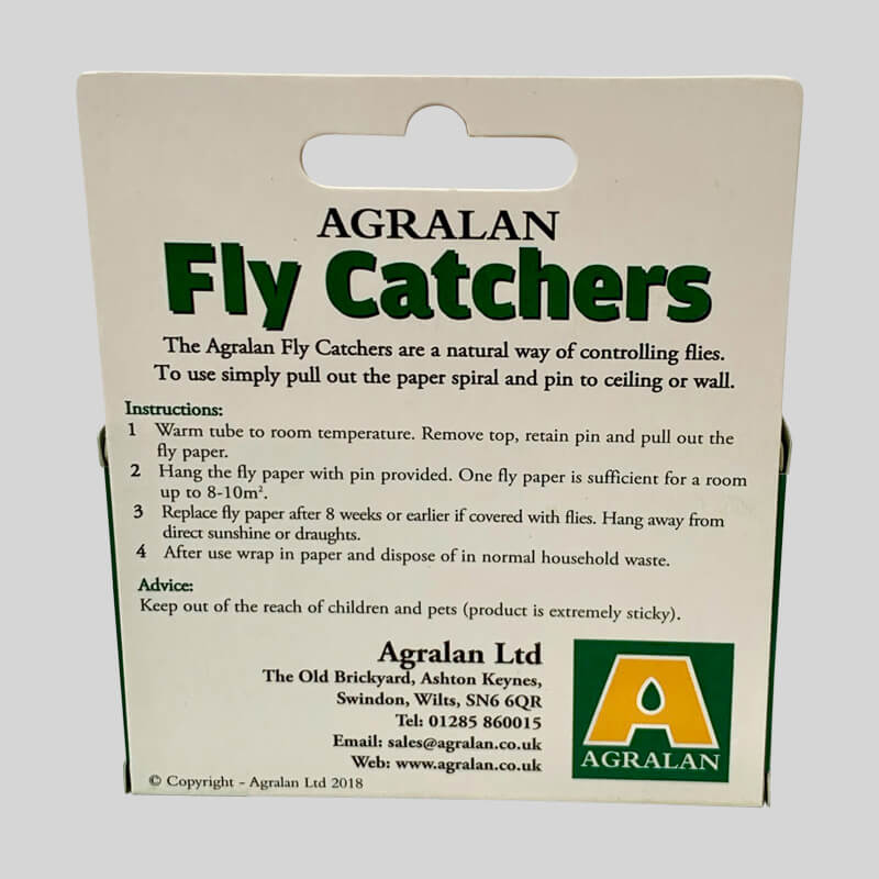 Sticky Fly Catchers Back Of Box