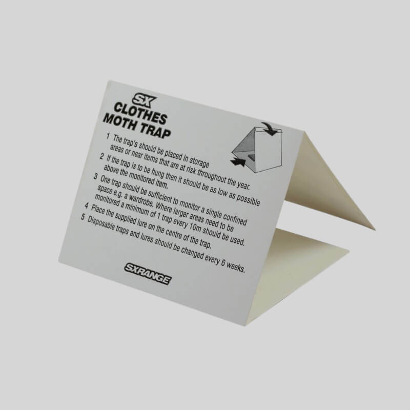 Clothes Moth Trap Label