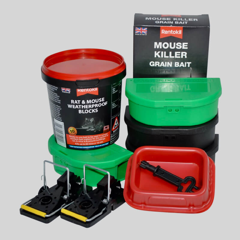 All you need to kill mice in a easy to use kit