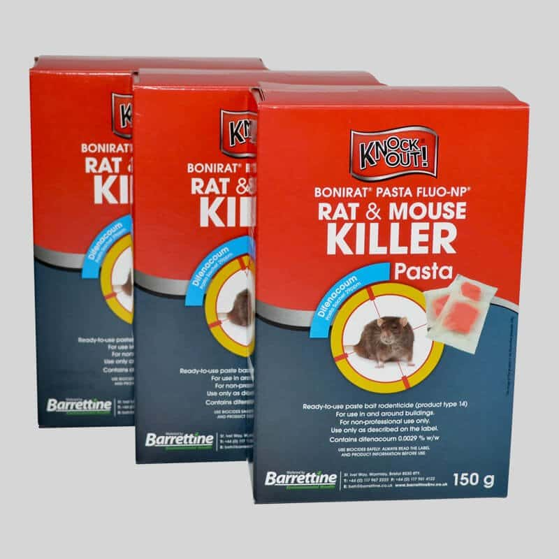 Pasta rat and mouse poison in 150g boxes