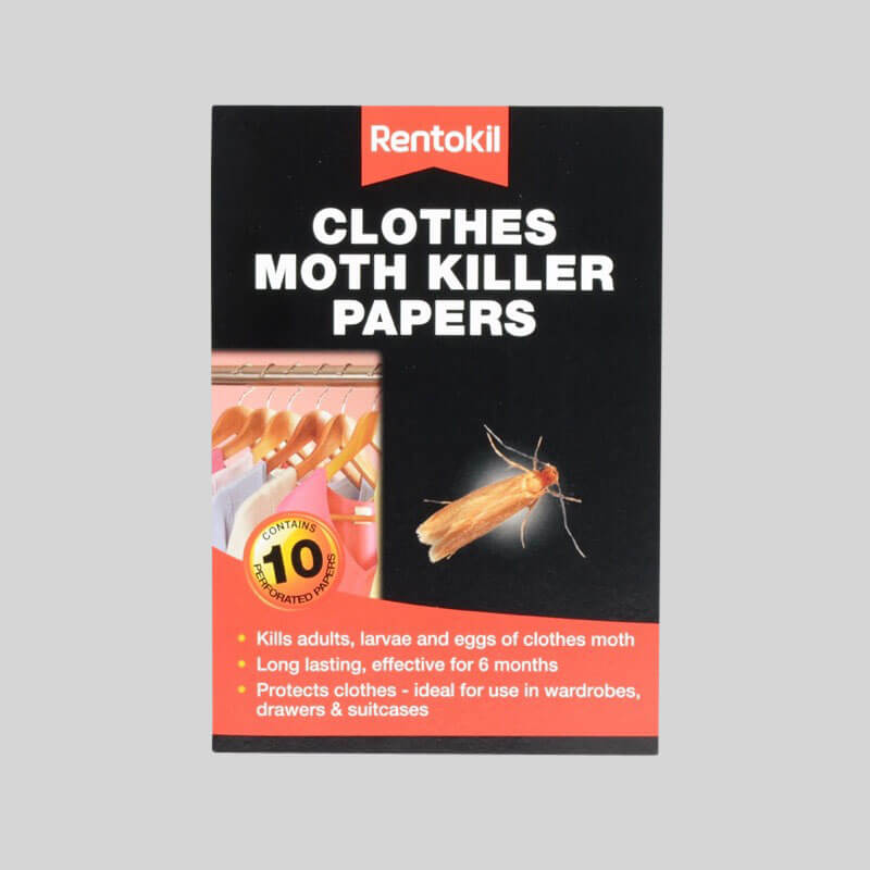 Rentokil Clothes Moth Killer Papers Packaging