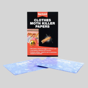 Rentokil Clothes Moth Killer Papers and Box