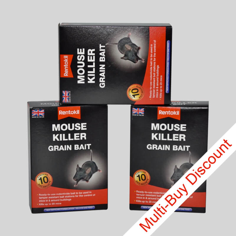 Rentokil mouse killer grain bait in 100g box