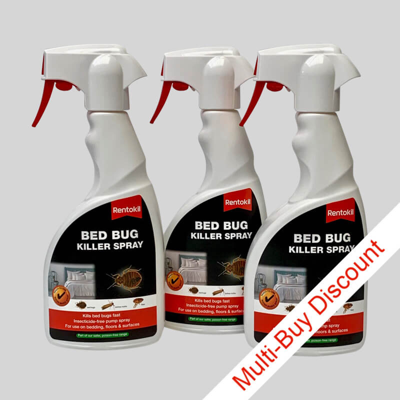 Rentokil Bed Bug Killer Spray Set of 3