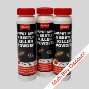 Rentokil Carpet Beetle Killer Powder Set of 3