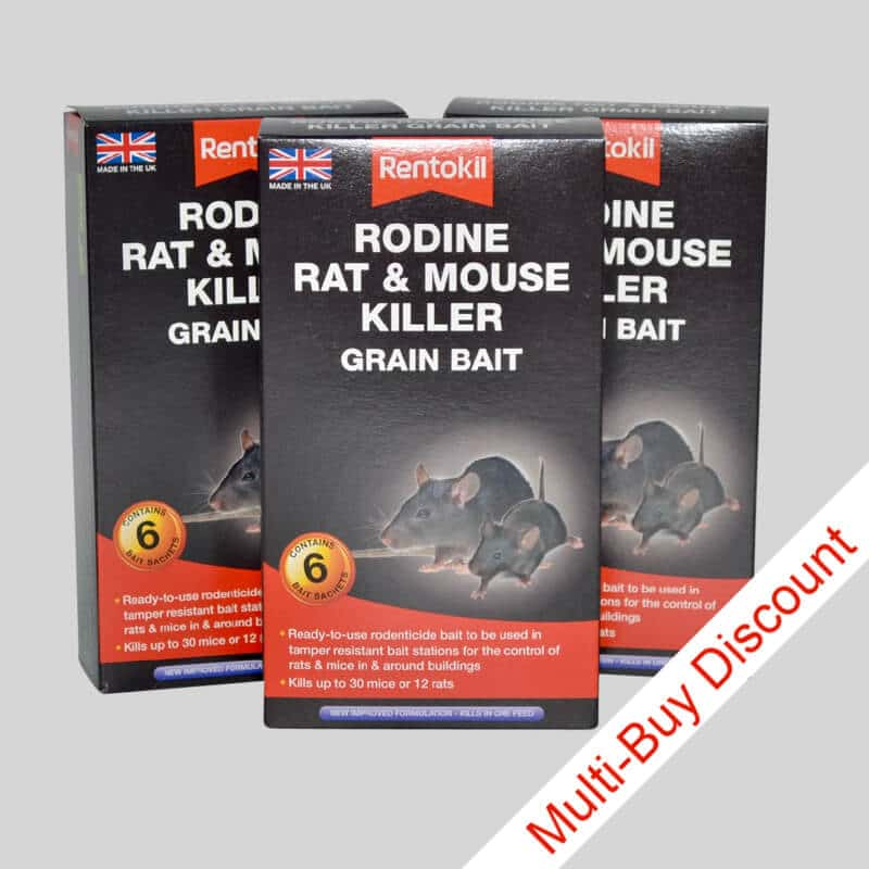 Rentokil Rodine Mouse Killer Pack of 3