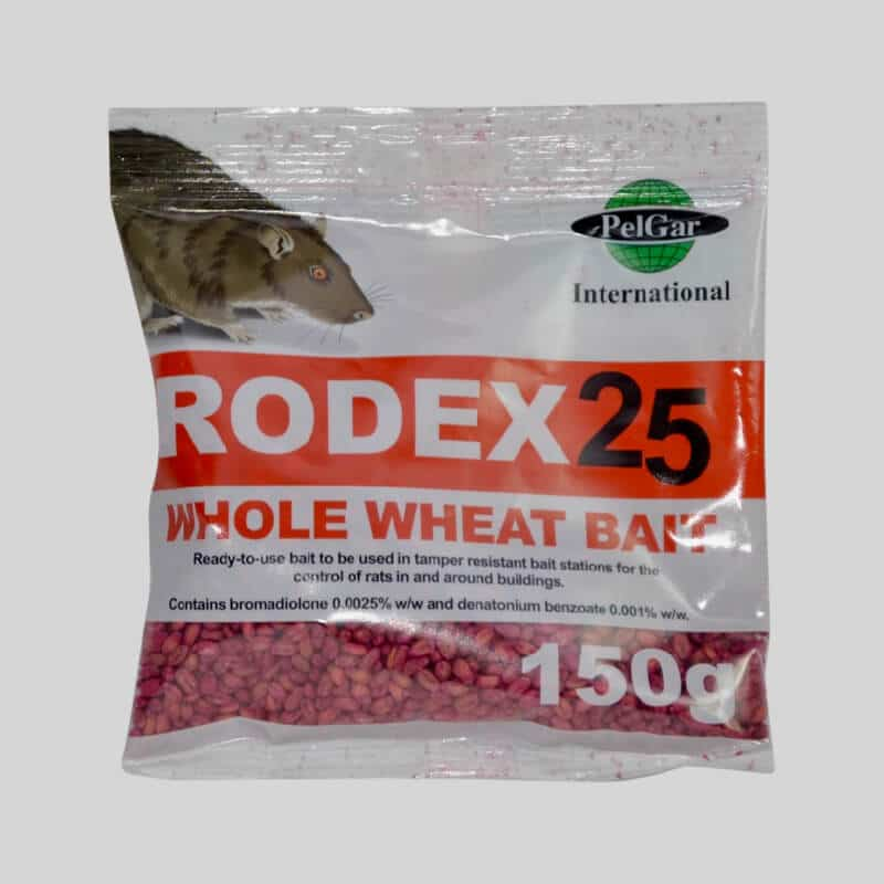 Rodex Whole Wheat Rat Poison in a place pack