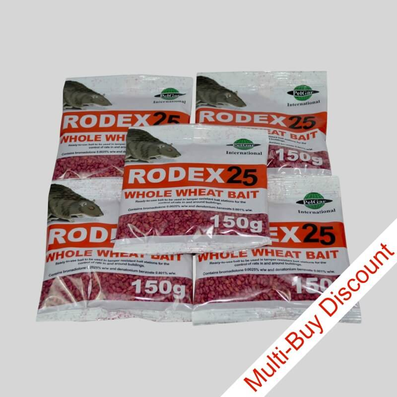 Rodex Rat Poison Sachets | Bromadiolone | Rat Poison