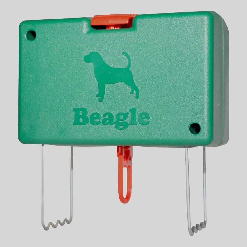 Beagle mole trap in set position