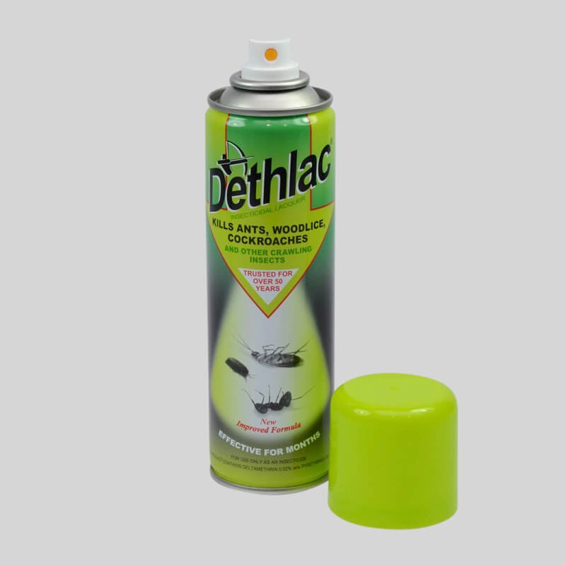 Dethlac Cockroach Killer Spray with Cap off