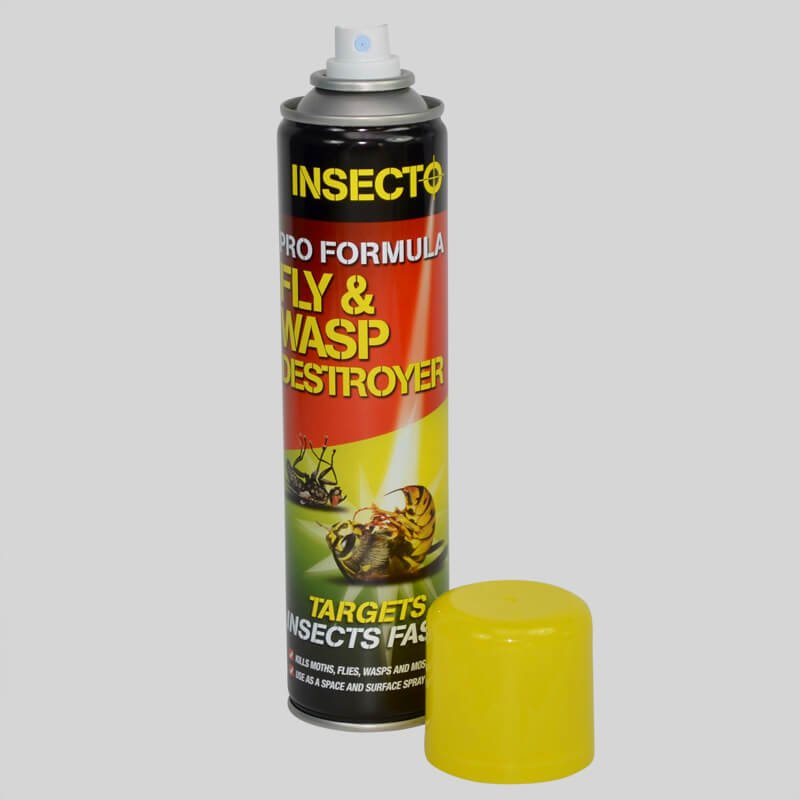 Insecto Fly Spray With Cap Off