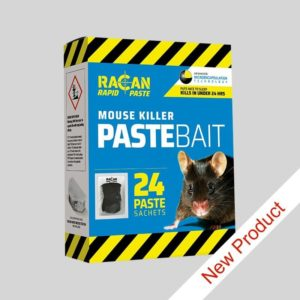 Racan Rapid Mouse Killer Paste Bait sachets in 240g box