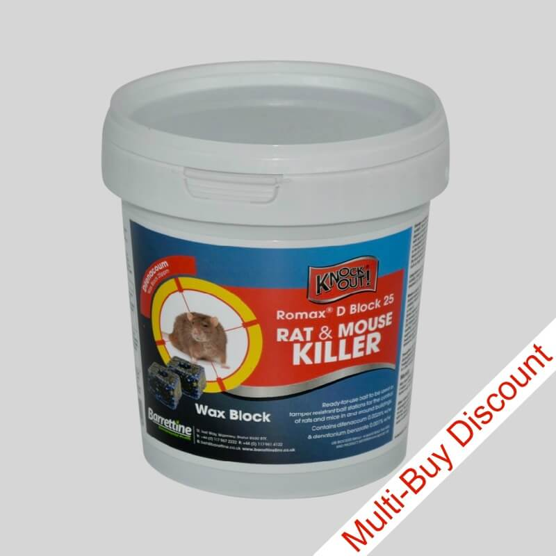 Romax D Block Rat Killer Single Tub